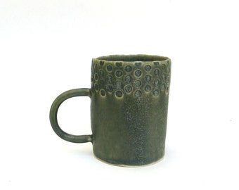 SALE  …   petite hand built porcelain cup  ...   sage green