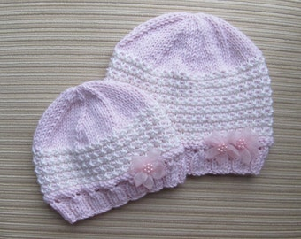 Knitting Pattern #138 Beautiful Slip Stitch Hat in Sizes 3-6 Months, 2-3 Years and Adult