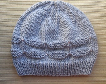 Knitting Pattern #140 Hat with Small Bows for a Lady