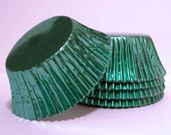 Light Green Foil Standard Size Cupcake Liners- Choose Set of 50 or 100