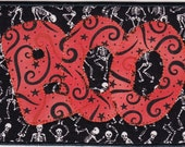 Boo Quilted Fabric Postcard