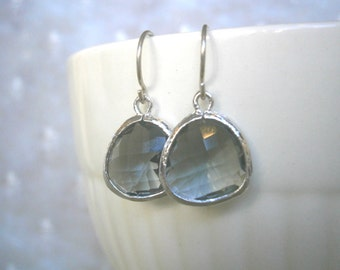 Jewelry Sale, Grey Earrings, Silver Earrings, Gray Earrings