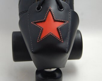 DA-45 Leather Toe Guards with Orange Star OR Choose Your Color!