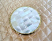 Vintage COMPACT, Max Factor Creme Puff, Mother of Pearl