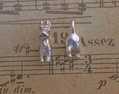 Sterling silver head and tail dog earrings animal