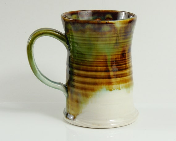 10 oz Mug Porcelain Green Ceramic Teacup