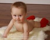 Newborn Baby Red Leg Warmers