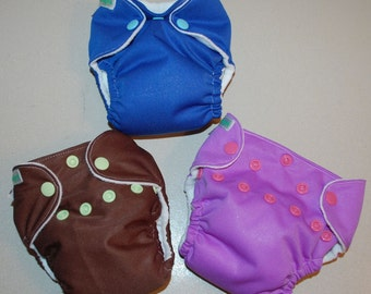 LuluBellDesigns Newborn NB AIO Cloth Diaper 5-10 lbs SOLIDS