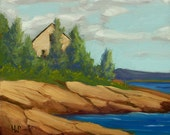 25% OFF SALE - Original Oil Painting, Bay House