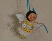 Sunshine - Flying Garden Fairy Clothespin Doll
