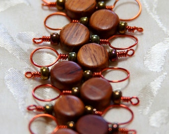 Snag-Free Wooden Stitch Markers