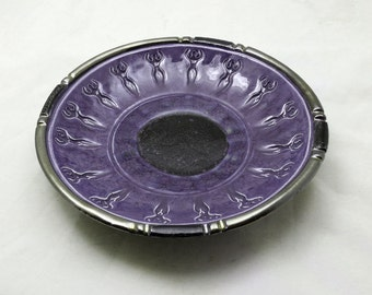 Goddess Bowl Handmade Ceramic Purple  Pottery