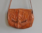 vintage boho bag / leather