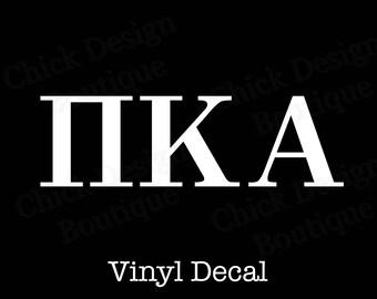 Pi Kappa Alpha Greek Alphabet Letters Vinyl Decal