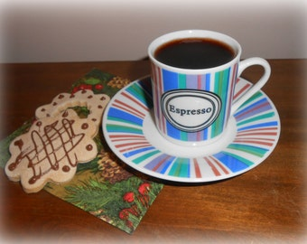Fake Espresso Demitasse Cup With Two Faux Cookies Food Photo Prop