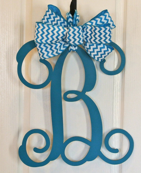 "Singel Letter 18"" Vine Cut Wood Monogram  Customize for Your Home Decor"