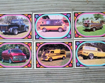 1975 Donruss Truckin' Collector Trading Cards / Six Cards