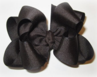 Girls Hairbow, Large Hairbow, Big Hairbow, Boutique Hair Bow, Brown Bow, Big Brown hair bow, Boutique hairbow, Girls Bows, Hair Bow, baby
