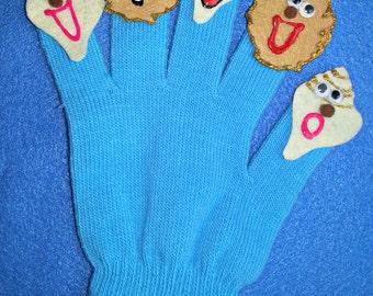 Puppet Glove Set 5 LITTLE SEASHELLS Puppet Glove Set