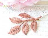Rose Gold Leaf Branch Hair Pin - Woodland Collection - Whimsical - Nature - Bridal - Wedding Hair