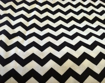 Chevron print fabric black