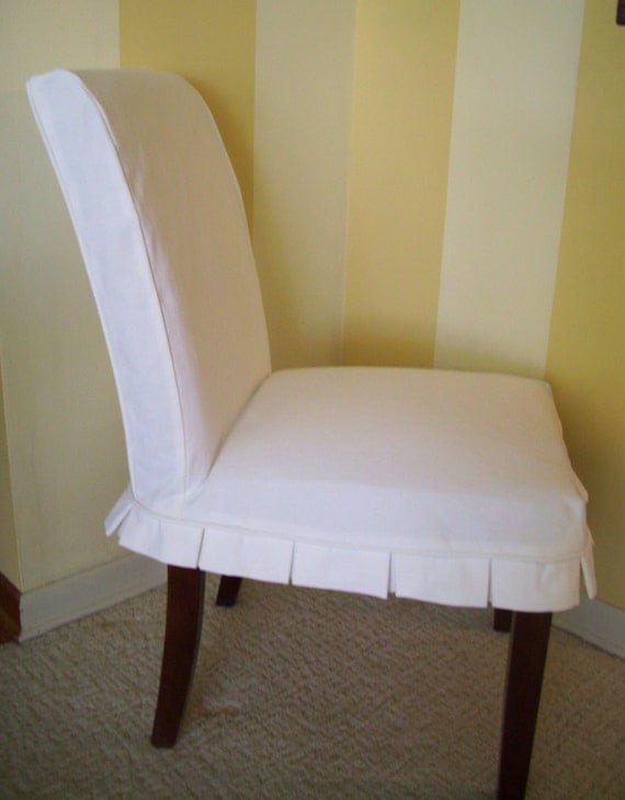 Parson Chair Slipcover Box Pleat Dining Chair Slipcover