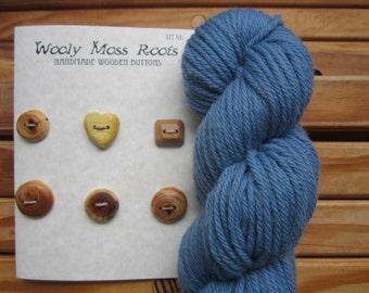 SALE! 6 Mixed Wood Buttons- in Reclaimed Woods- Eco Knitting Supplies, Sewing Supplies, Craft Buttons- Eco Craft Supplies