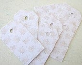 Tiny Flowers Wedding Favor Tags, Shipping Tags, Gift tags, Thank You Cards, Escort Tags