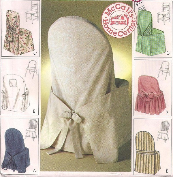 Mccalls 2787 Fabric Chair Covers Windsor Ladder Back And