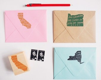 The Original Home State Personalized Return Address Stamp