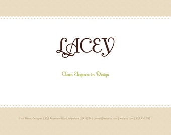 Instant Download Line Sheet template set - Lacey design, 4 pages
