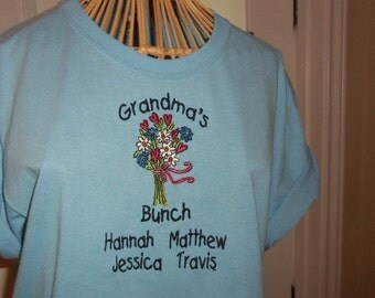 Grandma's Bunch Plus Size Personalized T-Shirt