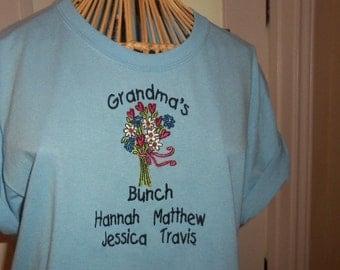 Grandma's Bunch Personalized T-Shirt
