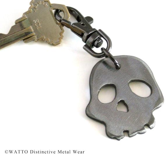 Reserved for David Skull Keychain/ Keychains Online/ Skull Charm/ Keychain/ Gift For Men/ Groomsmen Gifts/ Cool Keychains/ Skull and Bones