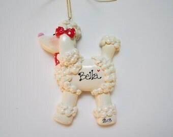 SALE....Personalized Christmas Poodle Ornament / Pet ornament/ Poodle