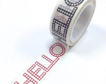 Washi Tape - 15mm - HELLO - Deco Paper Tape No. 1140