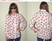 SALE 70s NOS Vintage Strawberry's Blouse 14