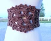 CROCHET PATTERN PDF - Instant Digital Download - Crocheted Celtic Knot Belt pattern - women - teen