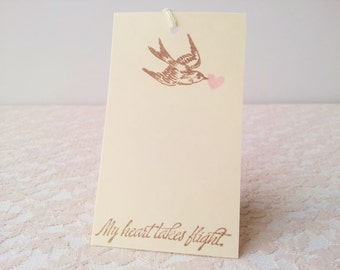Wedding Wish Tree Tags Bird and Heart Set of 20