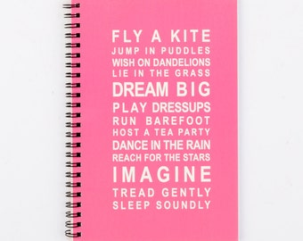 Spiral Writing Journal A5 - Dreams for your girl - Fly a Kite