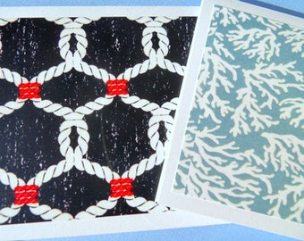 Nautical Thank You Cards - Thank You Cards - Bridal Shower Thank You Cards - Nautical Notecards -  ncst
