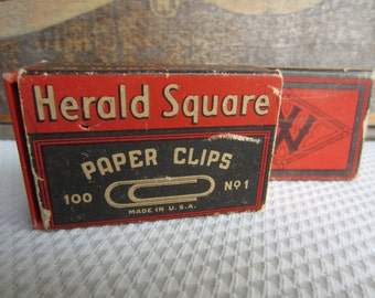 Vintage Woolworth Herald Square Paper Clips
