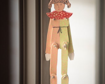 The colorful ClOwN---- Ceramic----home decor--moblie-Wall Hanging