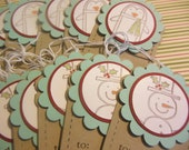 Snowman Gift Tags, Penguin Gift Tags, Christmas Tags, Holiday Tags - Set of 12
