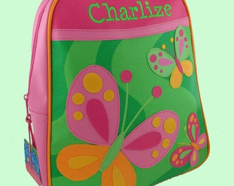 Personalized Stephen Joseph GoGo Backpack Butterfly Themed Backpack-Monogramming Included