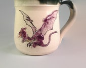 3D Purple Dragon Mug - Beer Stein