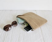 Fold Over Vegan Clutch in Camel