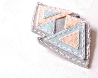 Stitched Triangle Hair Clip