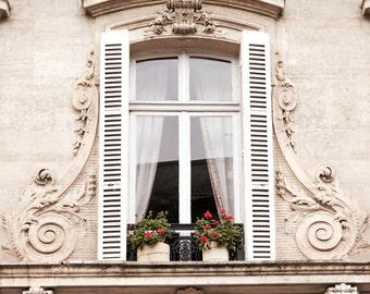 Paris Window Photography -  Le Fenetre, French Home Decor, Large Wall Art