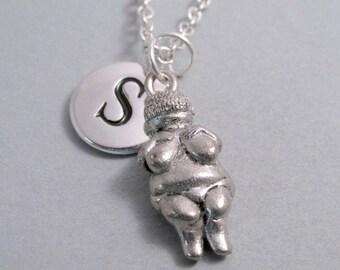 Venus of Willendorf, Goddess of Fertility, Woman of Willendorf, Venus Goddess Keychain, Engraved, Personalized, Monogram Charm